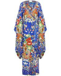 Camilla Vestido largo - Azul