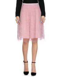RED Valentino - Knee Length Skirt - Lyst