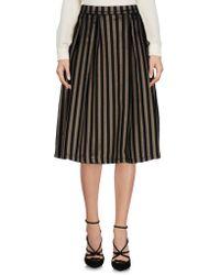 GAUDI Knee Length Skirt - Black