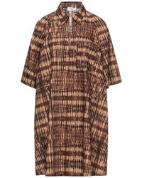 Barena Short Dress - Brown