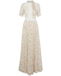 Mikael Aghal Langes Kleid - Weiß