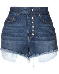 Odi Et Amo Denim Shorts - Blue