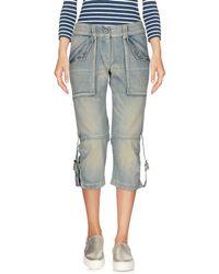 Armani Jeans - Denim Capris - Lyst