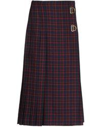 Burberry Midi Skirt - Blue