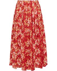 Emilia Wickstead 3/4 Length Skirt - Red