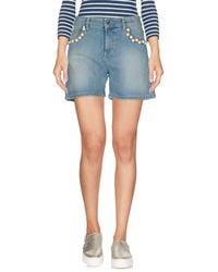MY TWIN Twinset Denim Shorts - Blue