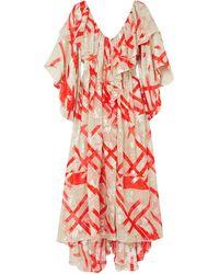 Preen By Thornton Bregazzi Midi Dress - White