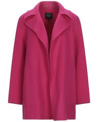 Theory Overcoat - Pink
