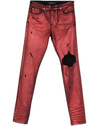 Amiri Pantaloni jeans - Rosso