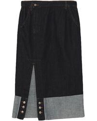Roy Rogers Denim Skirt - Blue