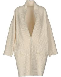 Pinko Overcoat - White