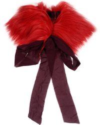 Erika Cavallini Semi Couture Écharpe - Rouge