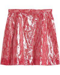 Christopher Kane Mini Skirt - Red