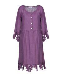 LFDL Knee-length Dress - Purple