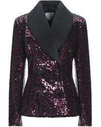 Halpern Suit Jacket - Purple