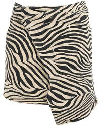 Laneus Denim Skirt - Natural