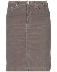 Paul by Paul Smith Knee Length Skirt - Gray