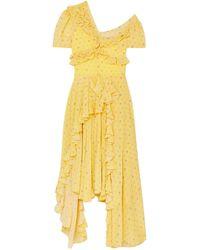Preen By Thornton Bregazzi Midi Dress - Yellow