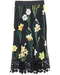 Dolce & Gabbana 3/4 Length Skirt - Black