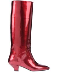Marc Jacobs Knee Boots - Red