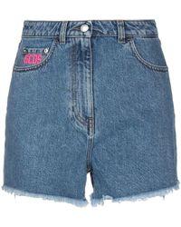 Gcds Denim Shorts - Blue