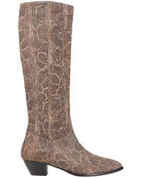 Duccio Del Duca Knee Boots - Brown