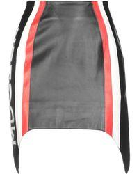 Mugler - Soft Nappa Logo Skirt In Black, Emergency Red & Off White - Lyst