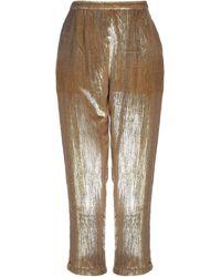 Mes Demoiselles Casual Trousers - Metallic
