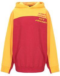 MAKE MONEY NOT FRIENDS Sweatshirt - Red