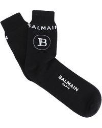 Balmain B Logo Sports Sock - Black