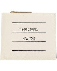 Thom Browne Portefeuille - Blanc