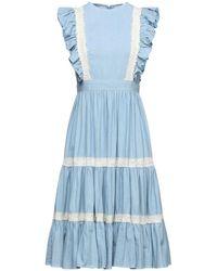 Manoush Vestido midi - Azul