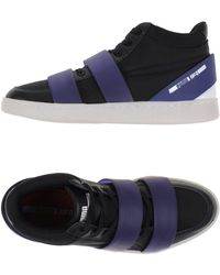 8bc02f1f4fa Lyst - Alexander Mcqueen X Puma Run Leather High-Top Sneakers in ...