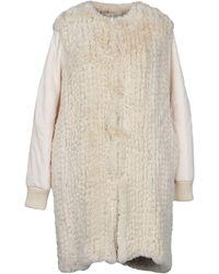 Pinko Teddy Coat - White
