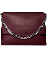 Gvyn - Yael Burgundy Leather Shoulder Bag By . - Lyst