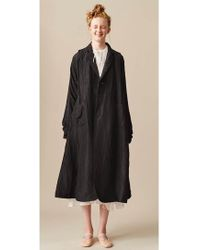 Renli Su - Long Black Mulberry Silk Coat - Lyst