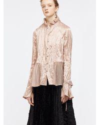 Renli Su Dusty Pink Mulberry Silk Shirt