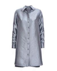 Florence Bridge - Isobel Shirt Dress In Silver - Lyst