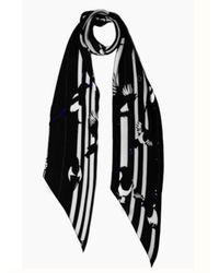 Rockins Magpie Black Print Classic Skinny