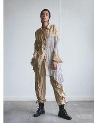 WEN PAN An Asymmetrical Shirt - Multicolour