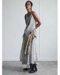 WEN PAN An Asymmetrical Crack Dress - Multicolour