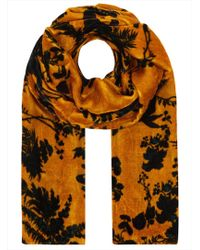 Klements - Long Velvet Scarf - Lyst