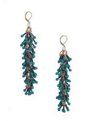 Longshaw Ward - Dangle Earrings In Green - Lyst