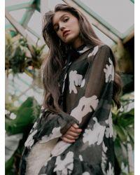 Florence Bridge - Eva Silk Ruffle Shirt - Back In Stock - Lyst