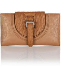 meli melo - Halo Wallet In Light Woven Tan - Lyst