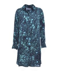 Florence Bridge - Isobel Silk Shirt Dress In Acid Jade - Last One - Lyst