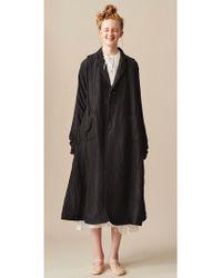 Renli Su - Long Black Mulberry Silk Coat - Last One - Lyst