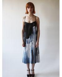 Florence Bridge - Phoebe Splash Silk Slip Dress - Lyst