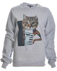 Simeon Farrar Asap Pu$$y Cat Sweatshirt - Gray