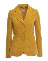 Rockins Classic Sunny Velvet Blazer - Last One - Yellow